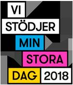 Vi stödjer MIN STORA DAG 2018