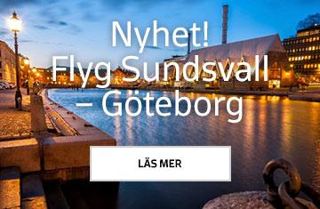 Nyhet! Flyg Sundsvall – Göteborg